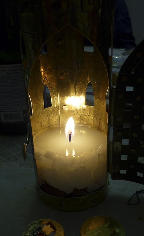 Фонарь свечной башня 1