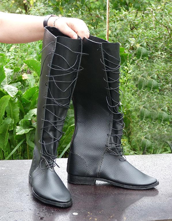 Сапоги чёрные шнуровка 1