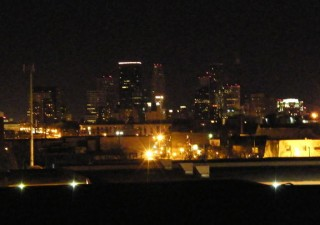 Downtown Minneapolis during Earth Hour 3/28/09