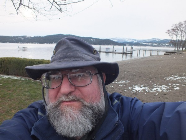 Dave at Coeur D'Alene Lake, 12/23/12