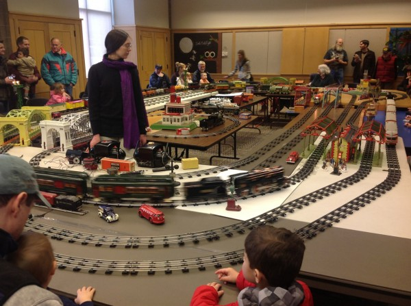 Model trains at Bend Library.  Bend, OR 12/26/12