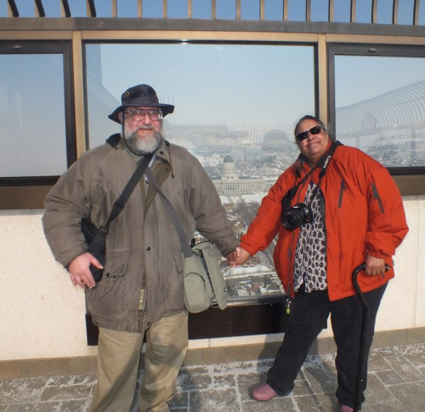 Dave and Carole on the observation deck of the Church Office Building, Salt Lake City, UT 1/4/13