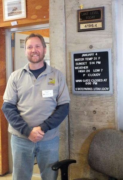 Wes, friendly clerk/park ranger, Antelope Island, UT 1/4/13