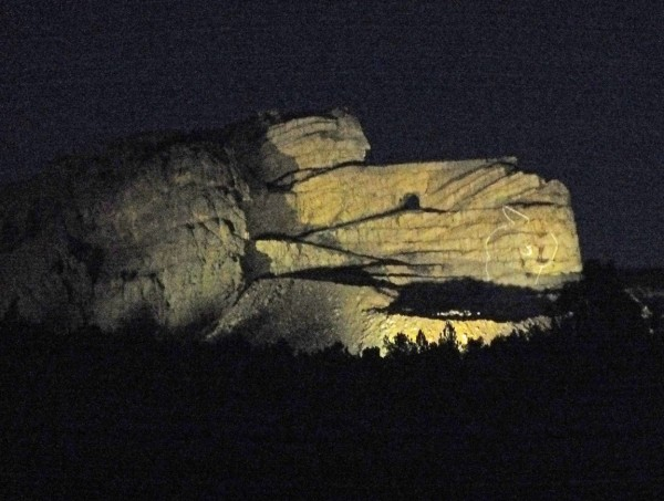 Crazy Horse Memorial at night 1/5/13