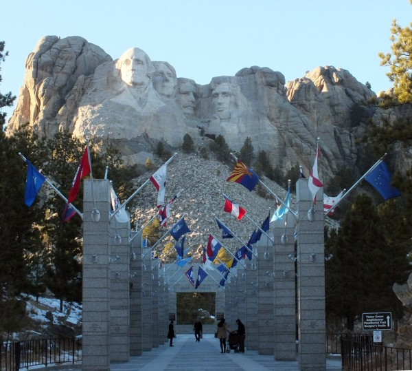 Approaching Mount Rushmore 1/5/13