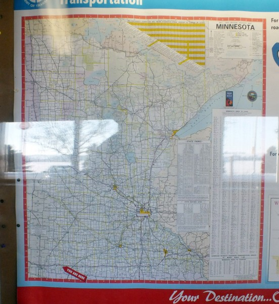 Map showing location of Adrian, MN rest stop.  1/6/13