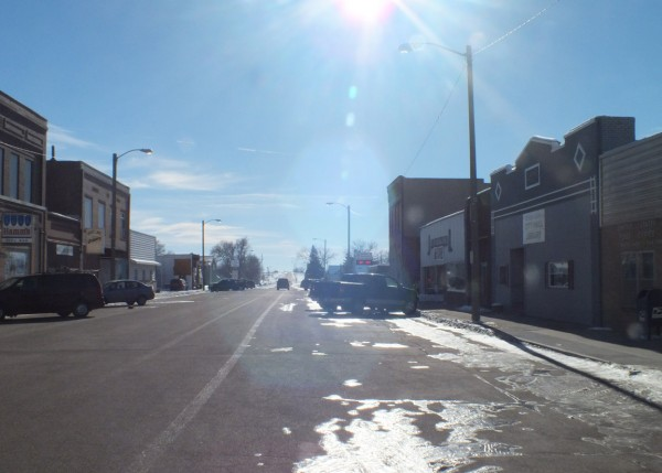 Empty street, White Lake, SD 1/6/13