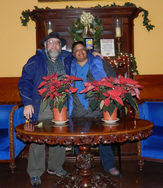 Dave and Carole in Spaghetti Factory, Clackamas, OR 12/2712 photo by Legend