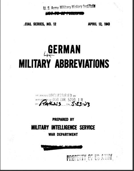 military abbrev