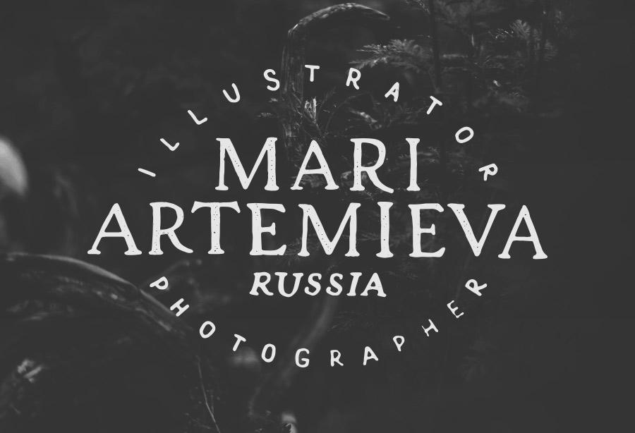 Mari Artemieva illustrator. Леттеринг