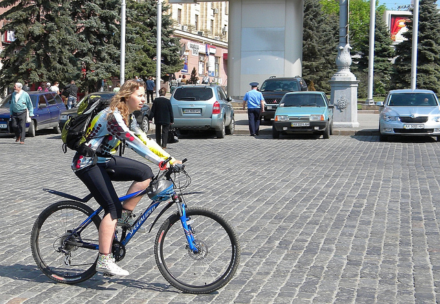 Фотки девушек велосипедисток