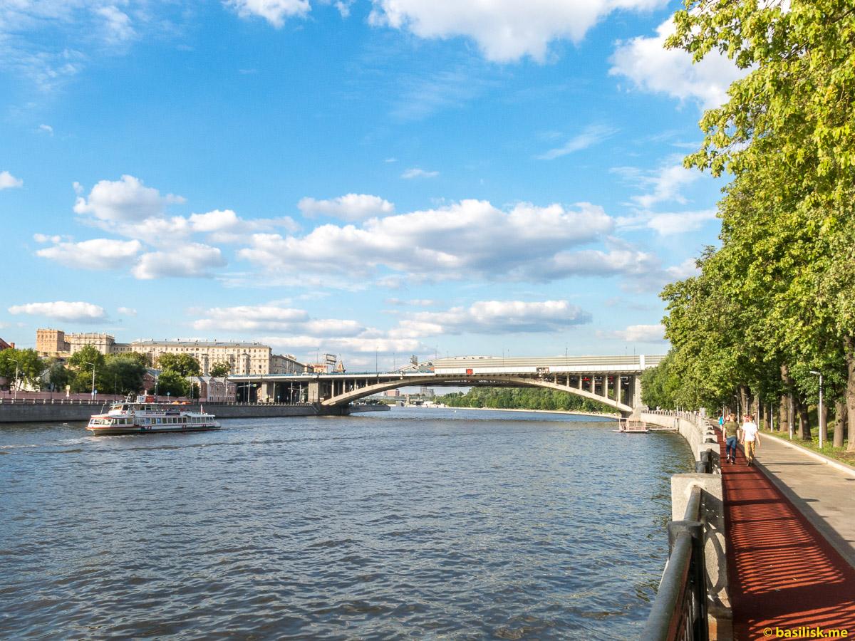 Андреевский мост. Третье транспортное кольцо. Река Москва. Июнь 2018
