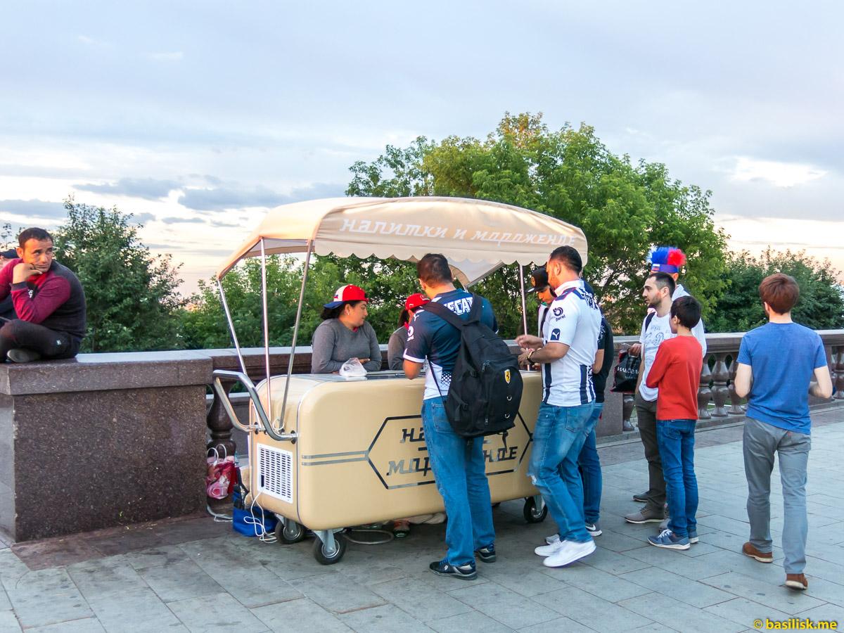 Мороженое. Смотровая площадка на Воробьёвых горах. Москва. 25 июня 2018