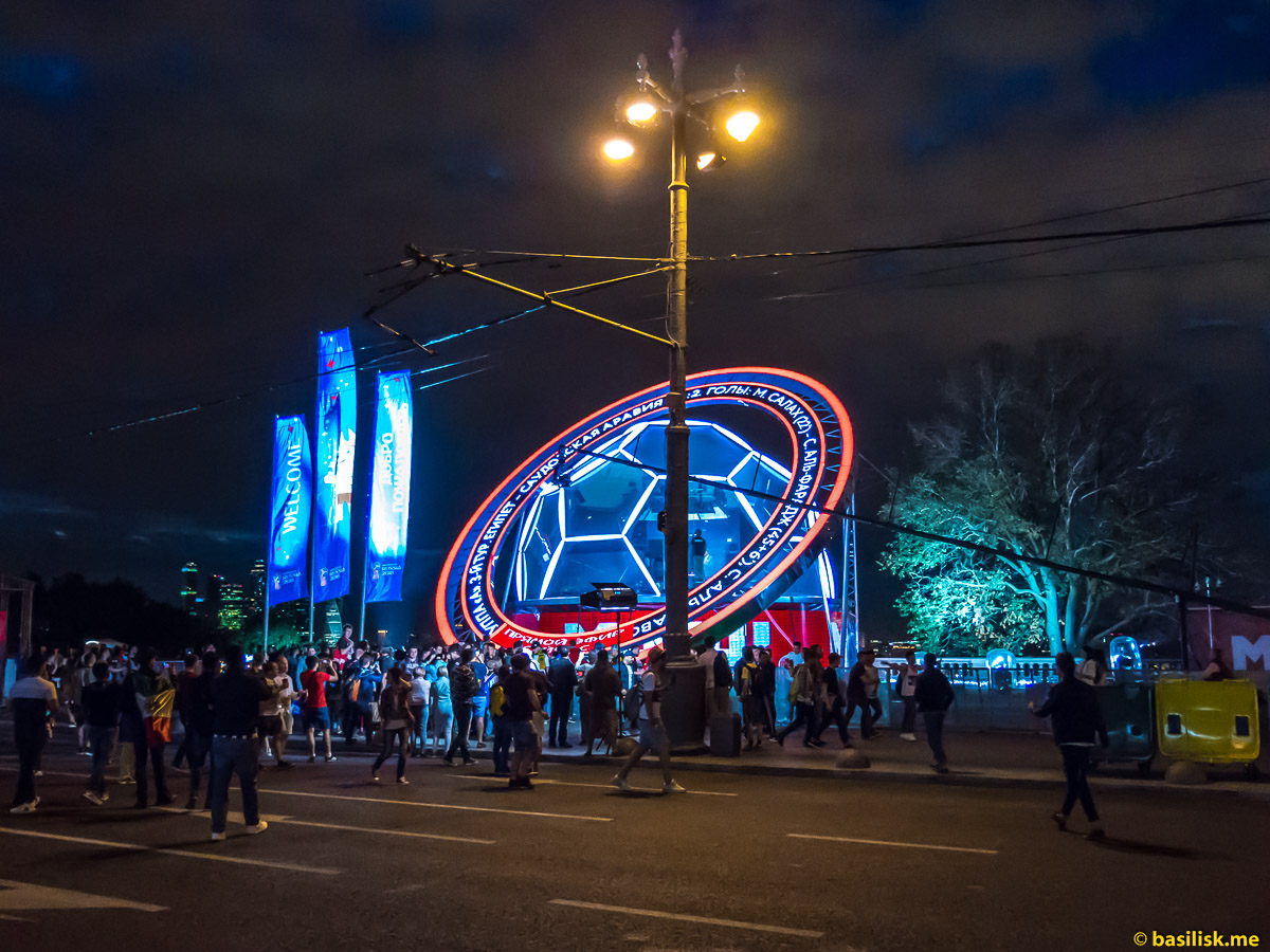 Вечер на Воробьёвых горах. Смотровая площадка на Воробьёвых горах. Москва. 25 июня 2018