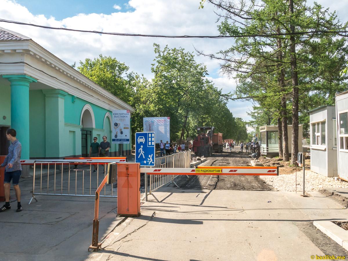 Северный вход. Стройка и реконструкция на ВДНХ. Москва. Май 2018