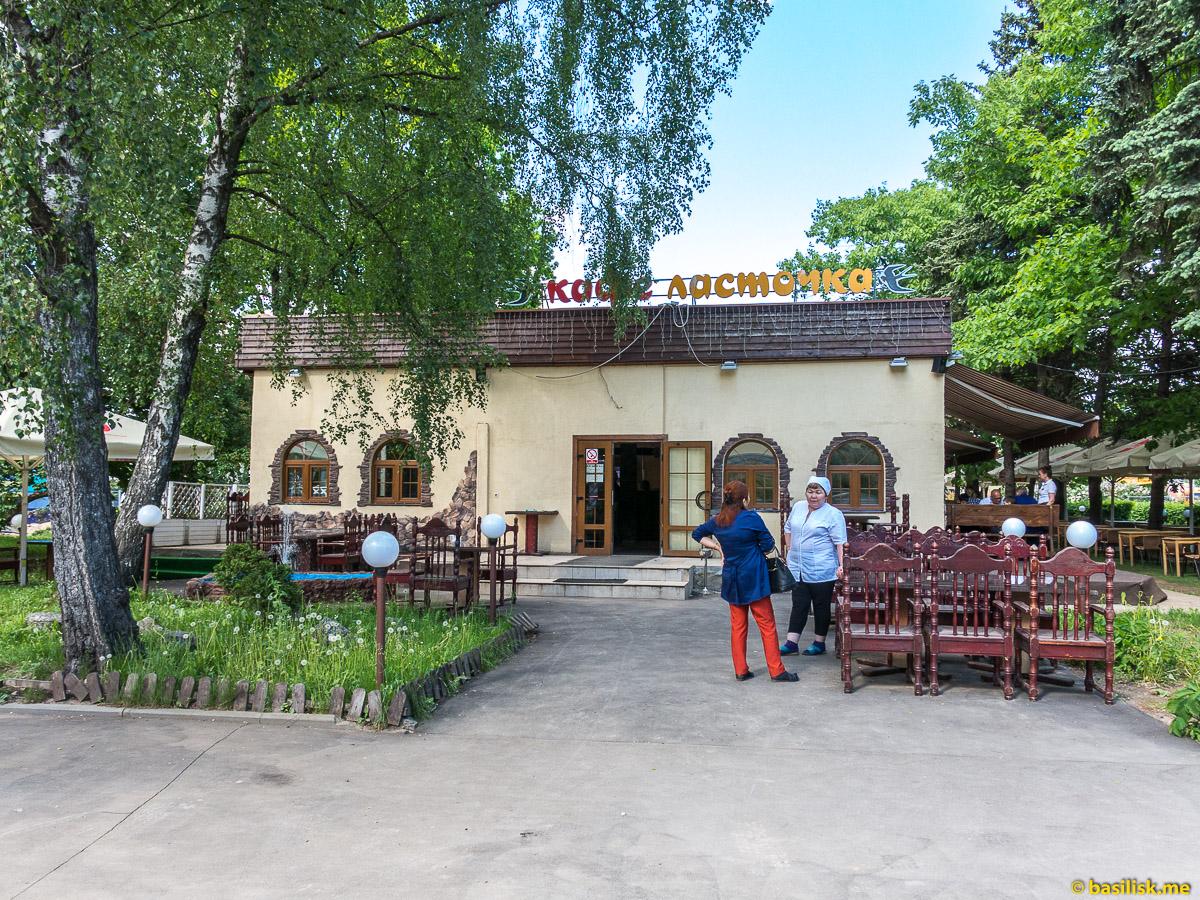 Кафе Ласточка. Стройка и реконструкция на ВДНХ. Москва. Май 2018