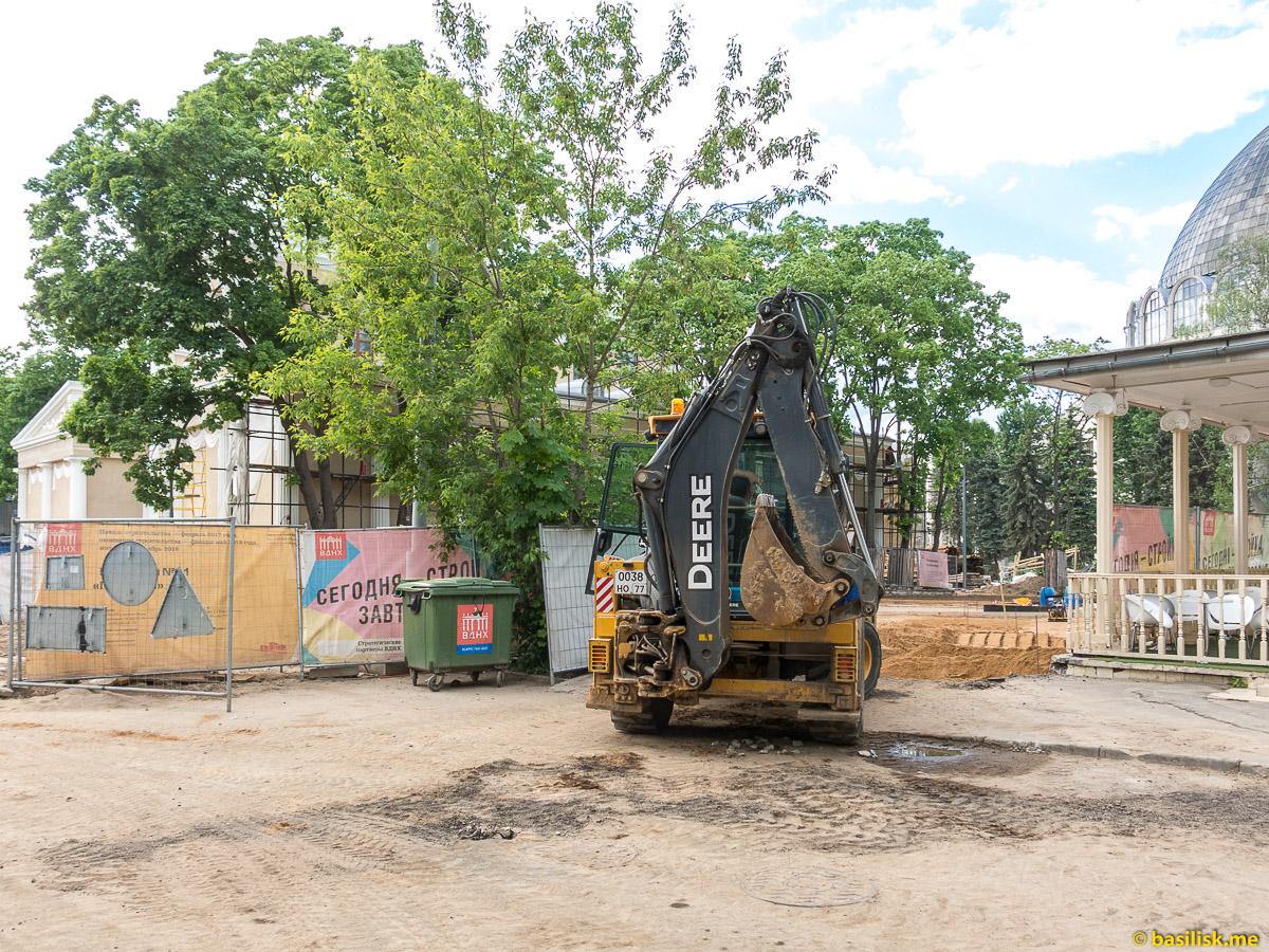 Стройка и реконструкция на ВДНХ. Москва. Май 2018