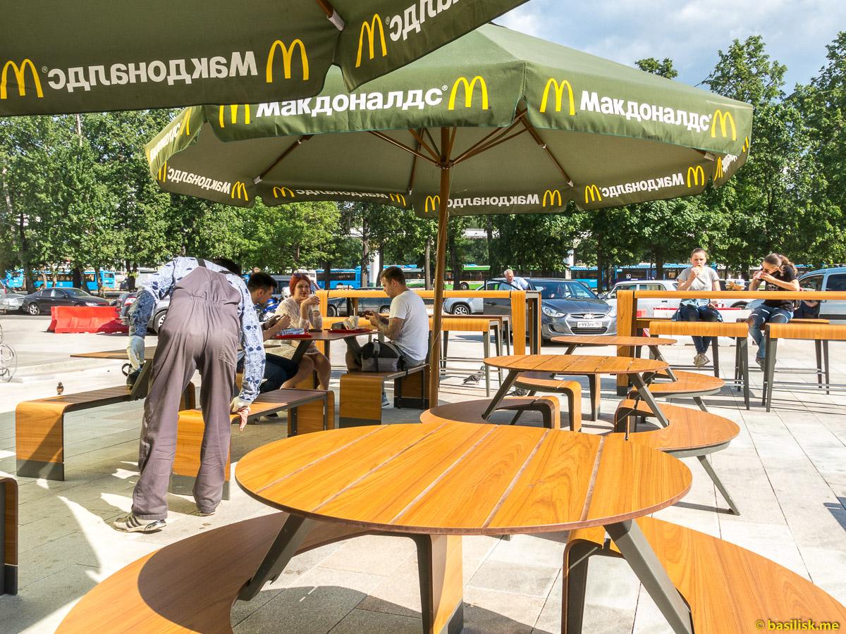 Макдоналдс. Стройка и реконструкция на ВДНХ. Москва. Май 2018