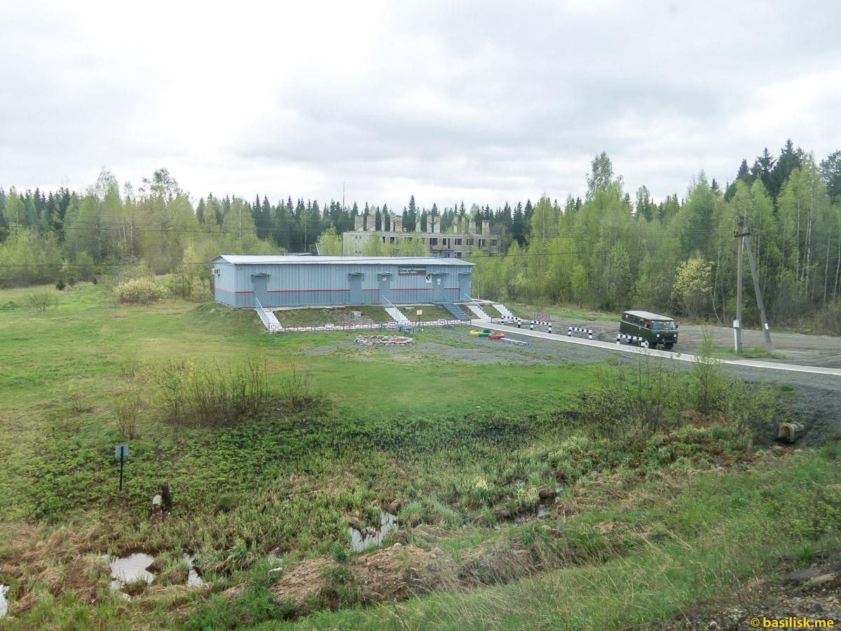 Станция Глазаниха. Поезд 6513 Вонгуда - Обозерская. Архангельская область. Май 2018