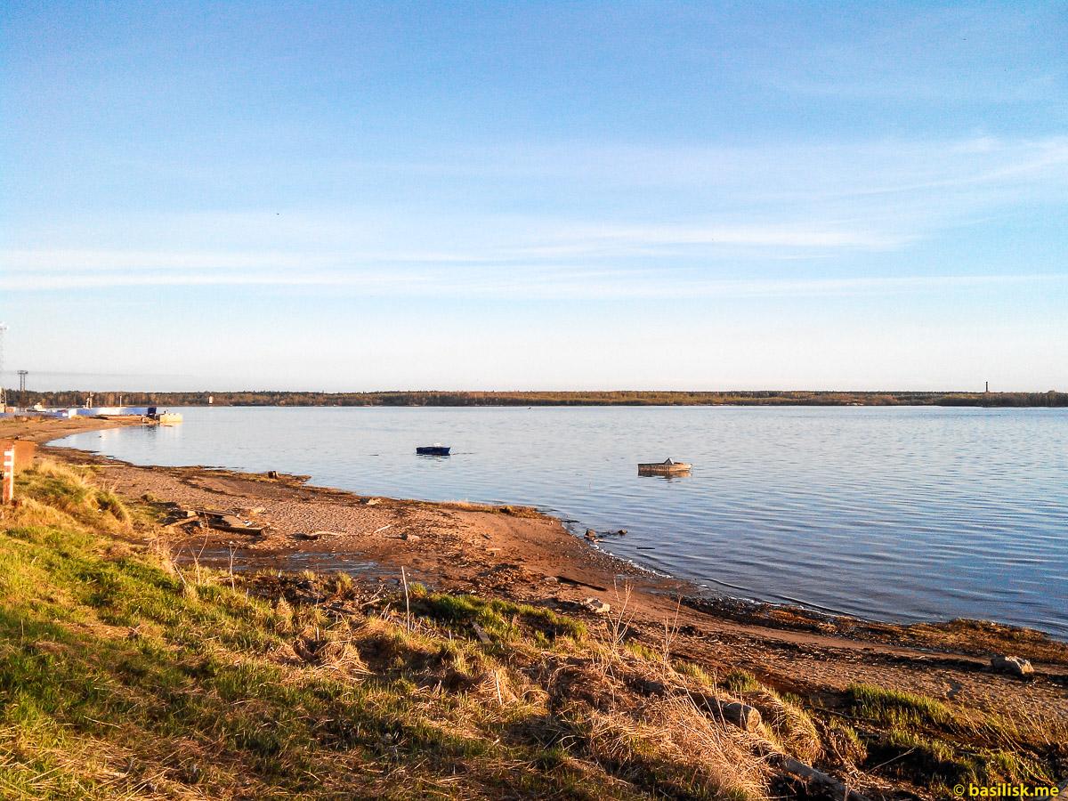 Вечером на реке. Река Онега. Архангельская область. Май 2018