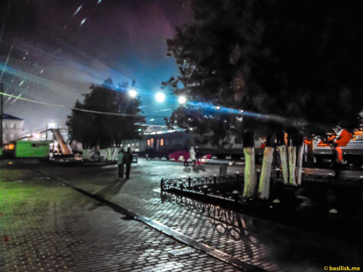 Ночная стоянка. Станция Данилов. Май 2018
