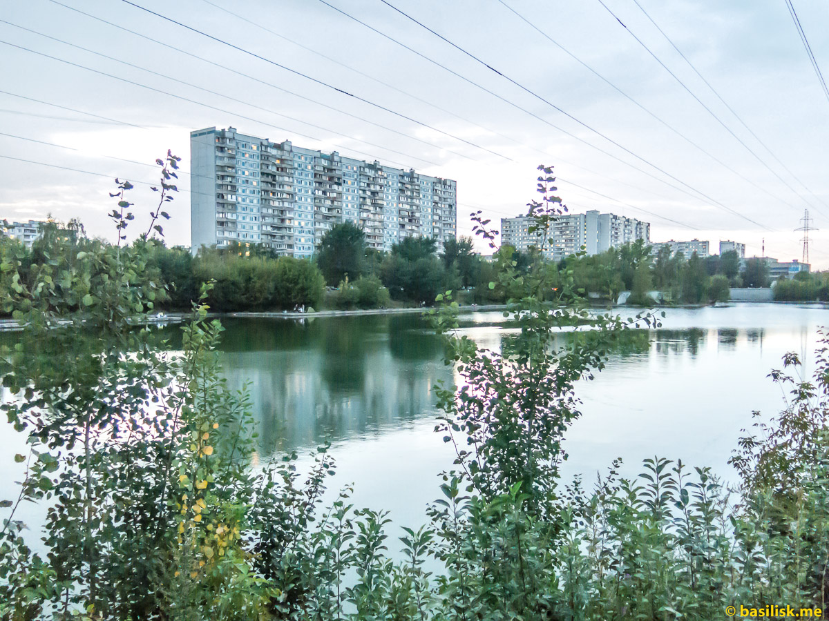 Марьинский пруд. Московский фестиваль фейерверков. Марьино. 19 августа 2018