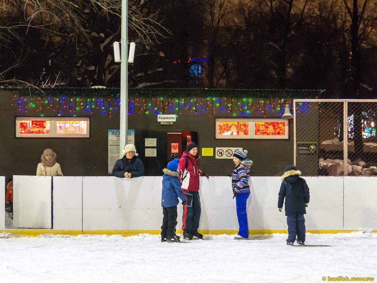 Каток в Гончаровском парке. Зимняя Москва. Февраль 2018