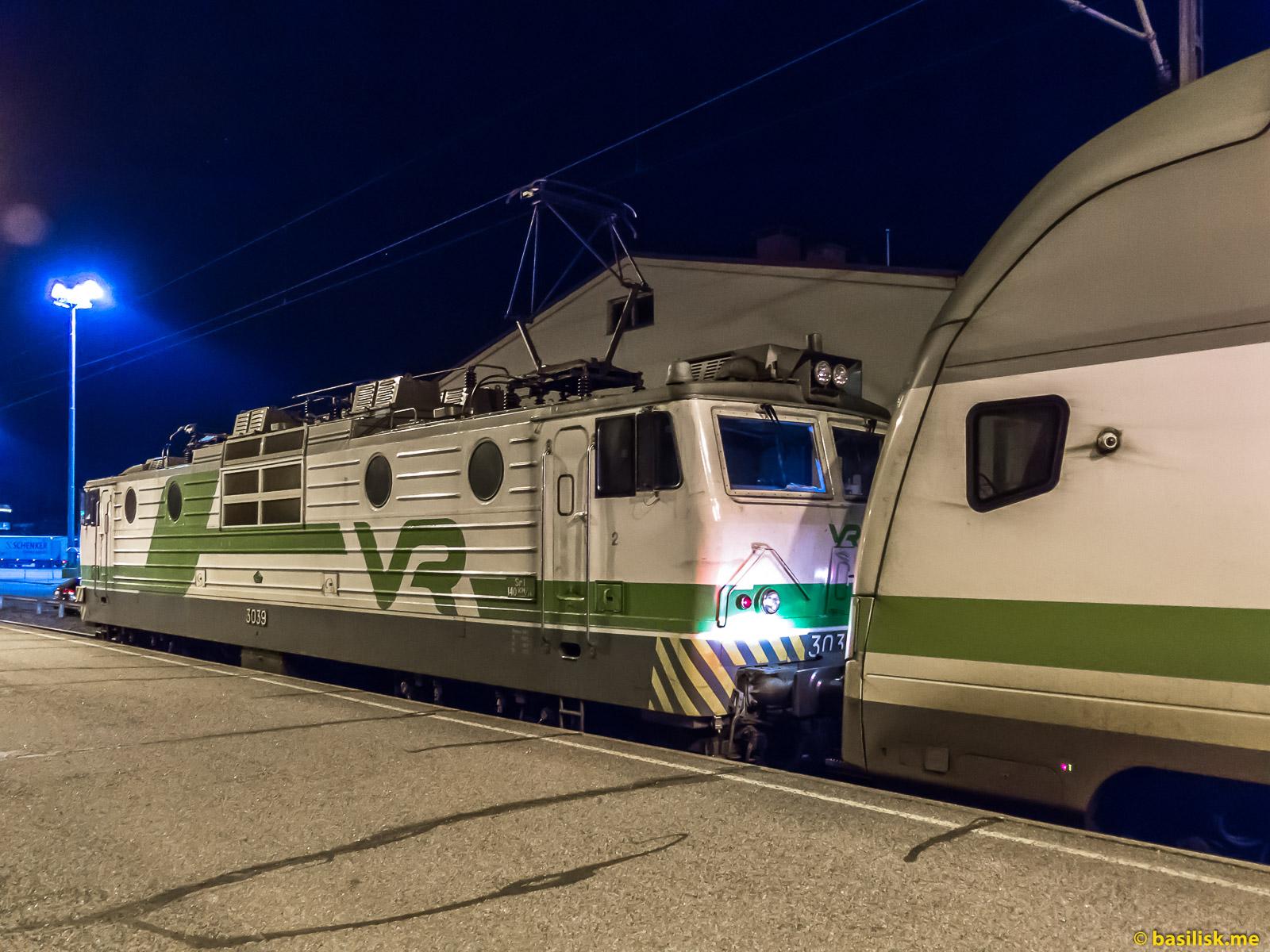 Железнодорожная станция Turun Satama. Turku Harbour train station. Порт Турку. Январь 2018