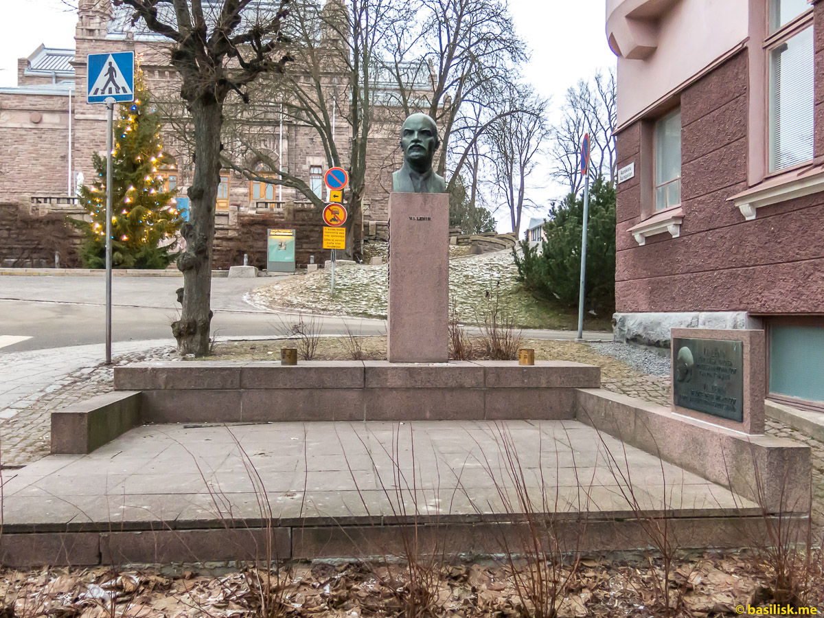 Памятник Ленину в Турку. Turku. Январь 2018