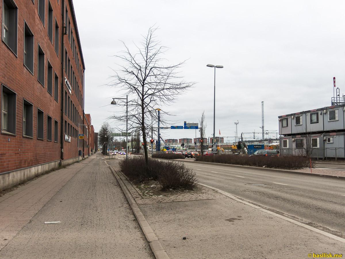 Пройдём от автостанции к железнодорожному вокзалу. Прогулка по Турку. Turku. Январь 2018
