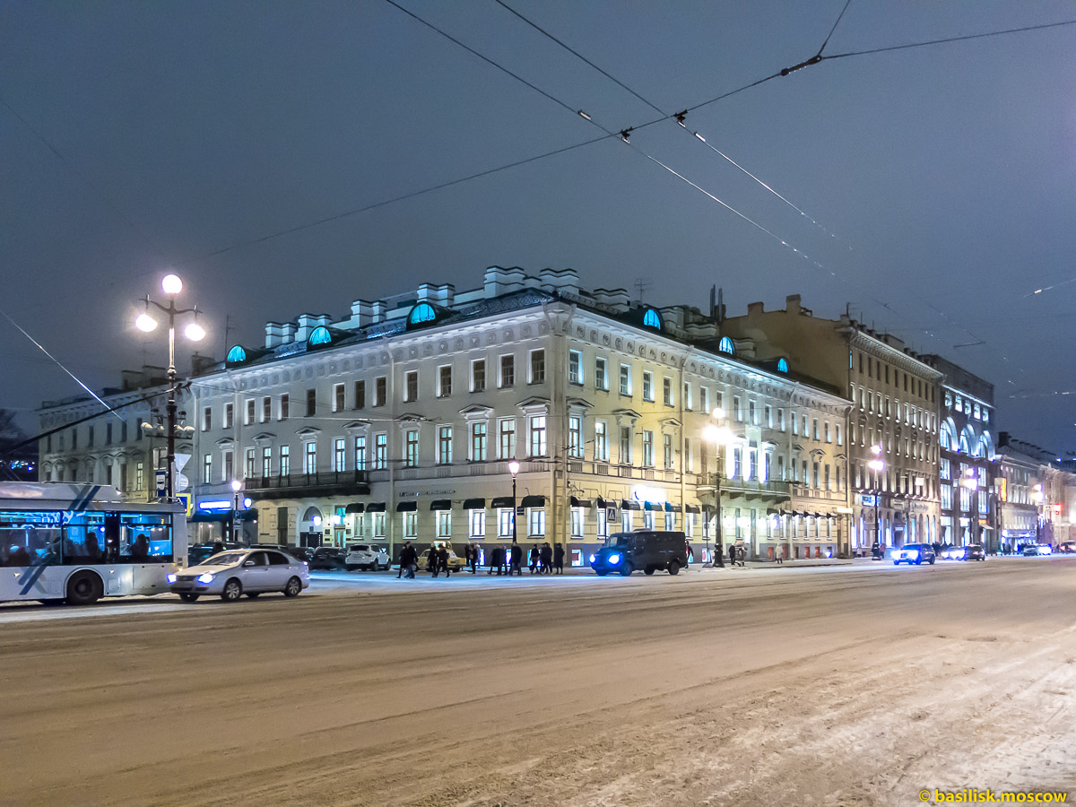 Невский проспект. Зимний Петербург. Январь 2018