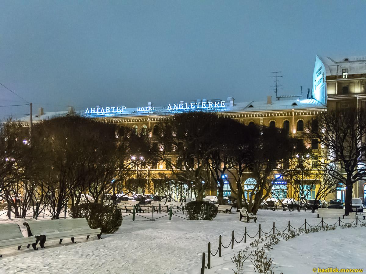 Исаакиевская площадь. Исаакиевский собор. Зимний Петербург. Январь 2018