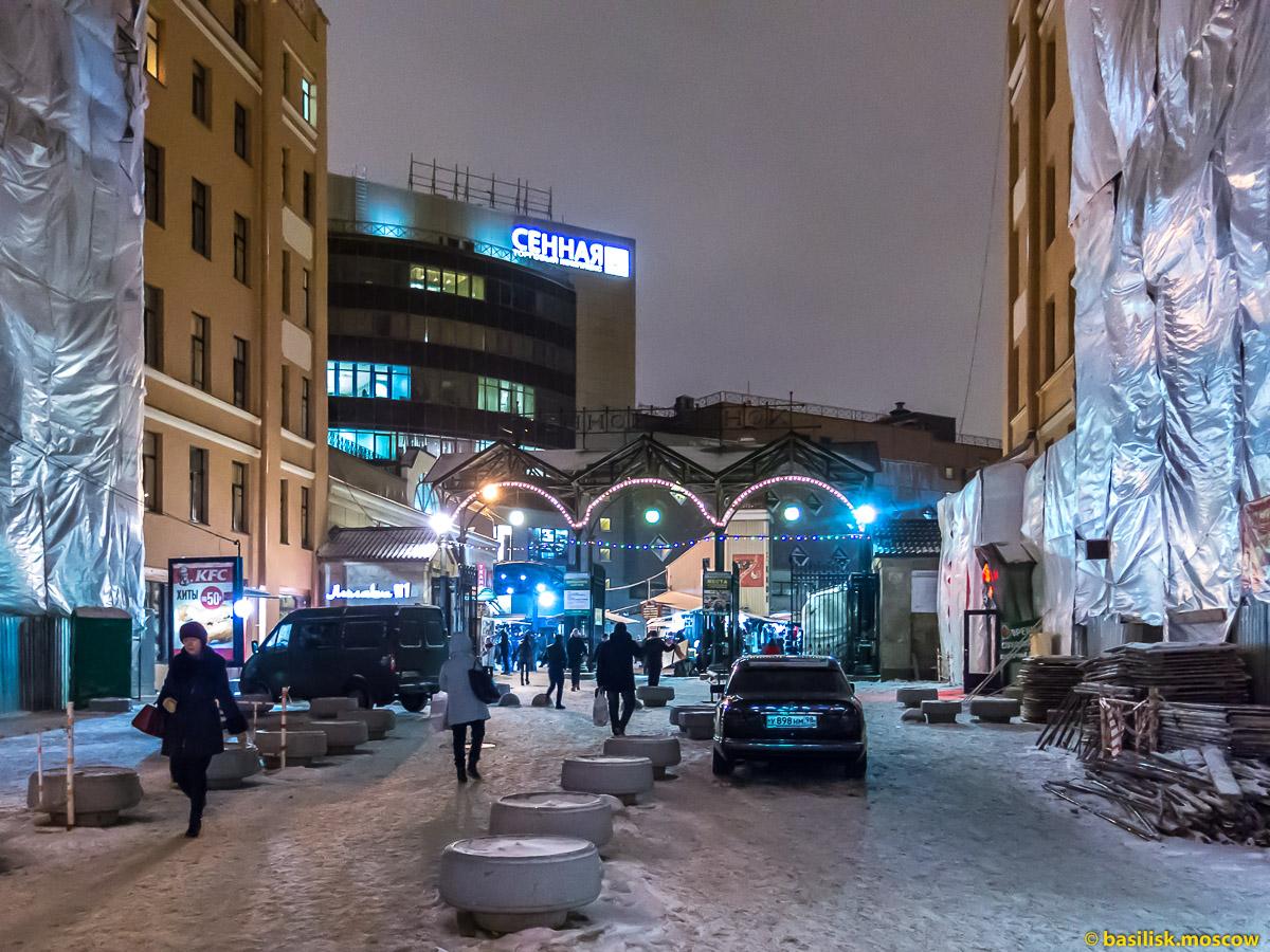 Сенная площадь. Зимний Петербург. Январь 2018