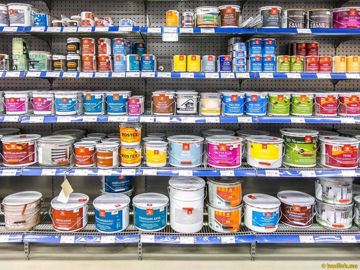 Магазин товаров для дома, строительства и ремонта K-Rauta Ruoholahti-Kauppa Helsinki. Январь 2018