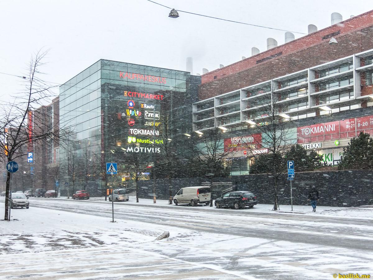 Торговый центр Ruoholahti-Kauppa Helsinki. Хельсинки. Январь 2018