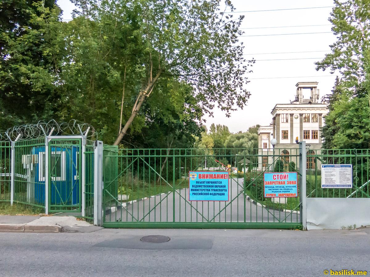 Шлюз 7 канала имени Москвы. Москва. Август 2018