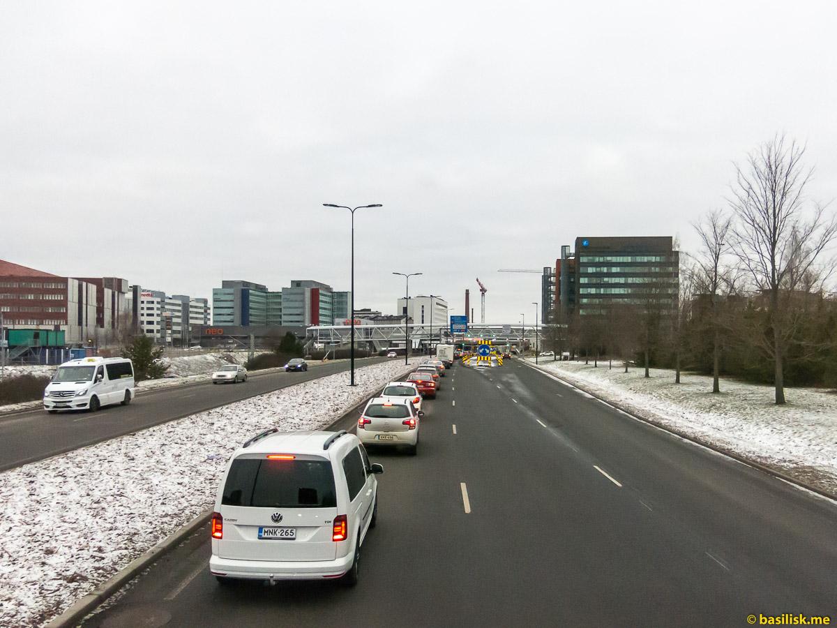 Поездка на автобусе Хельсинки - Турку. Январь 2018