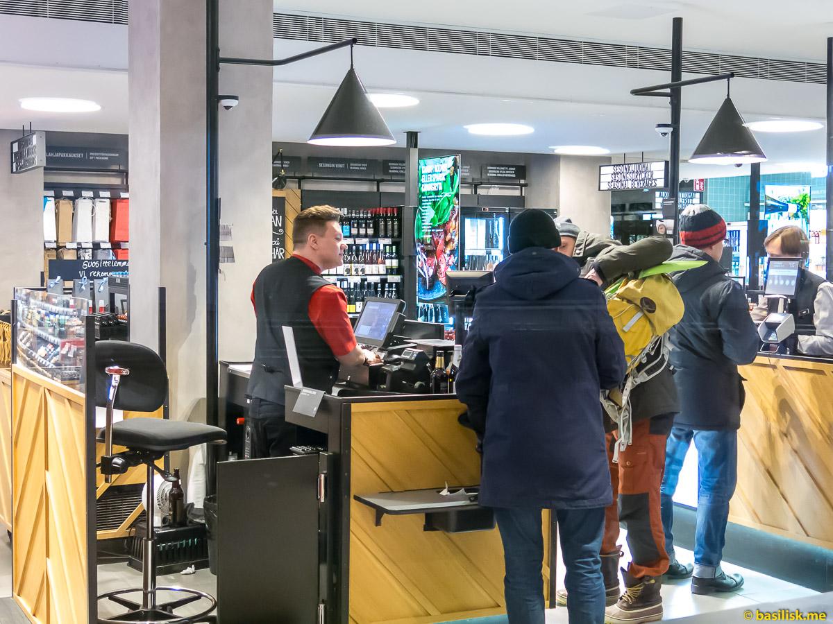 Магазины Alko в Хельсинки. Январь 2018