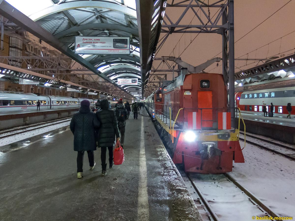 Московский вокзал. Петербург. Январь 2018