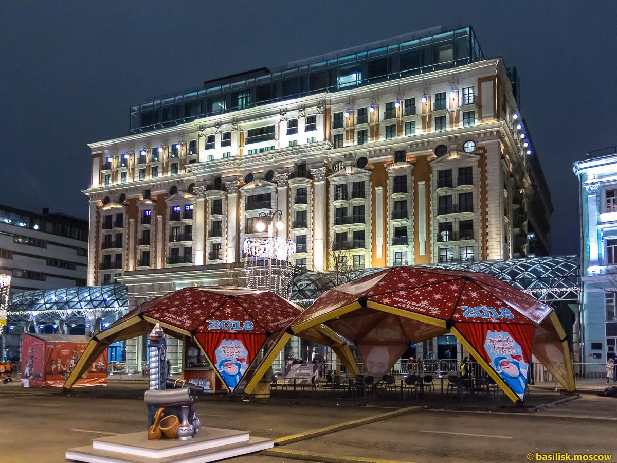Новогодняя ночь в центре Москвы. Александровский сад. Манежная. Тверская. Театральная. 1 января 2018