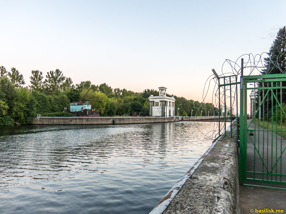 Канал имени Москвы. Сходненский деривационный канал. Москва. Август 2018