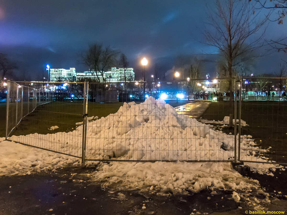 Новогодняя ночь в парке Горького. Москва. 1 января 2018