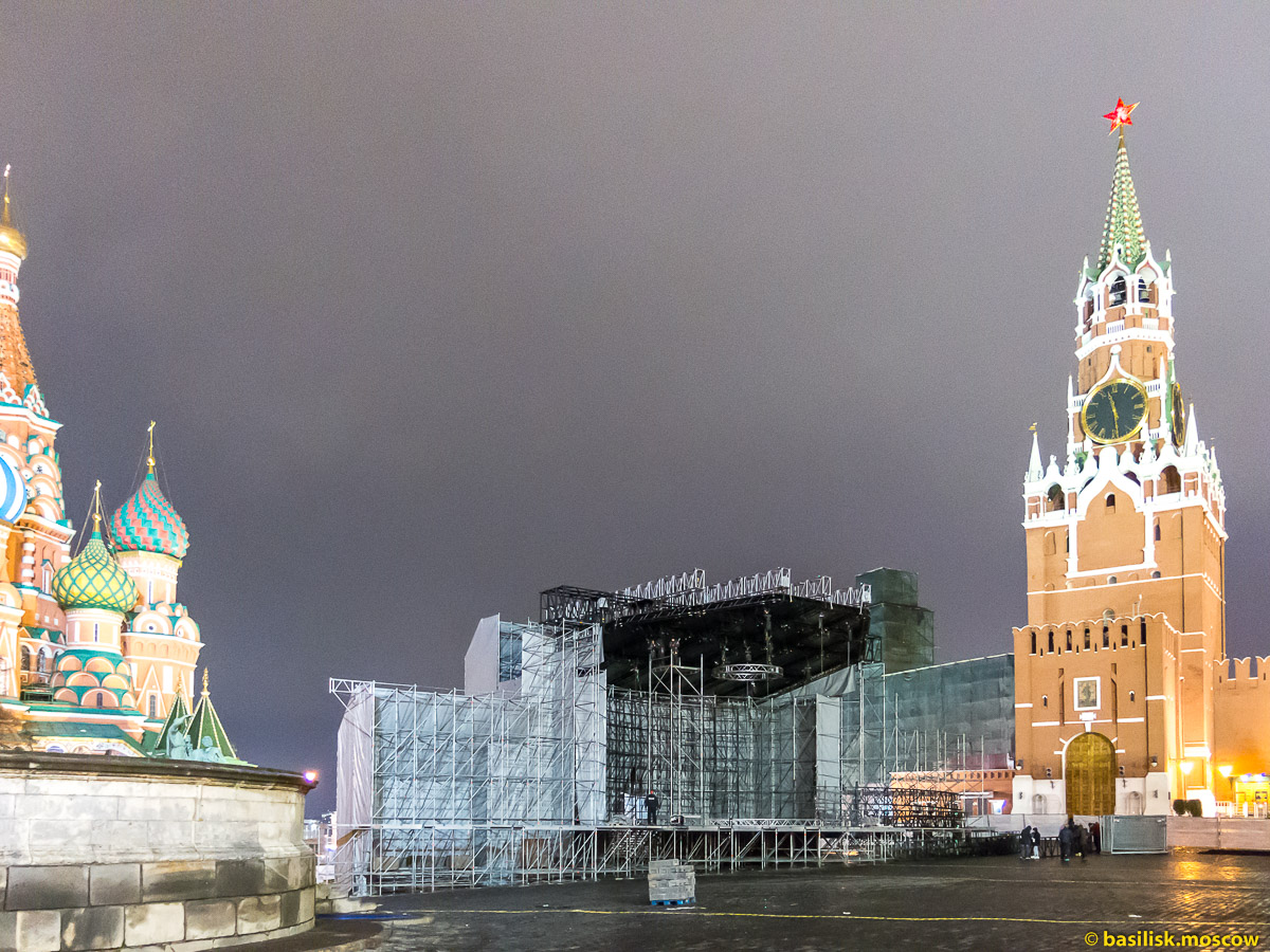 Красная площадь. Новогодняя Москва. Декабрь 2017