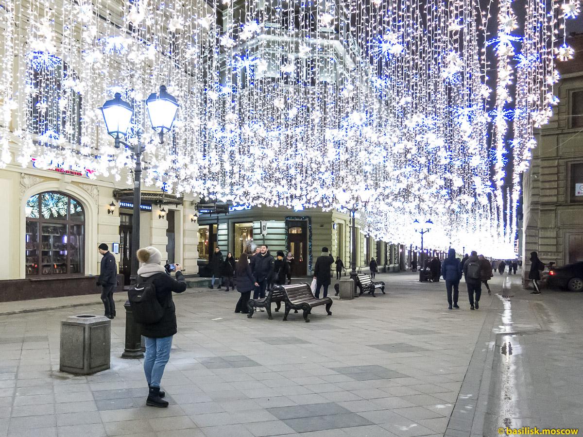 Никольская улица. Новогодняя Москва. Декабрь 2017