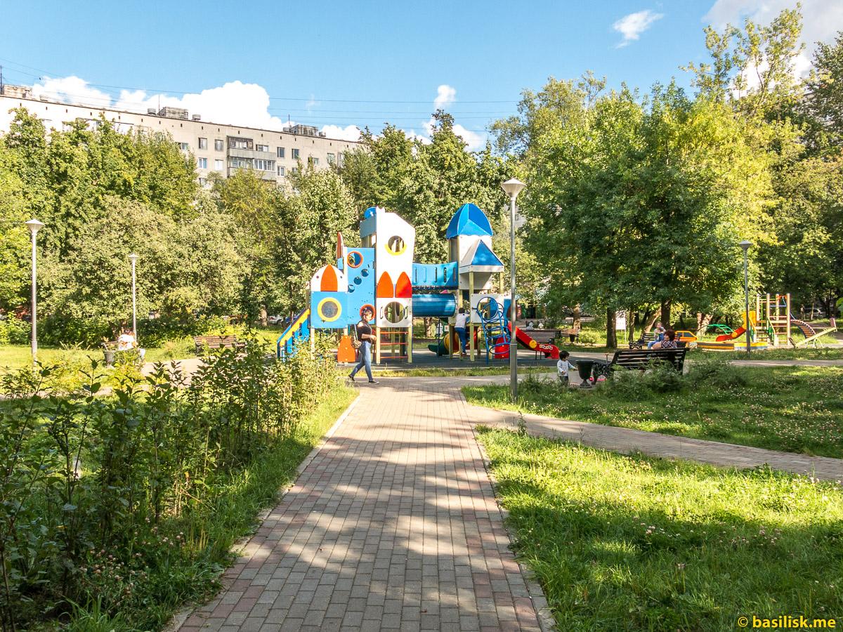 Детский парк в Тушино. Москва. Август 2018