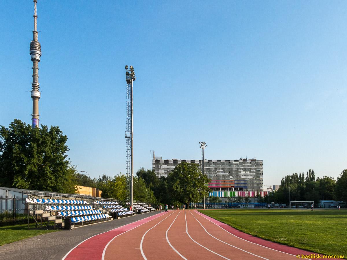 Стадион в парке Останкино. Москва. Август 2017