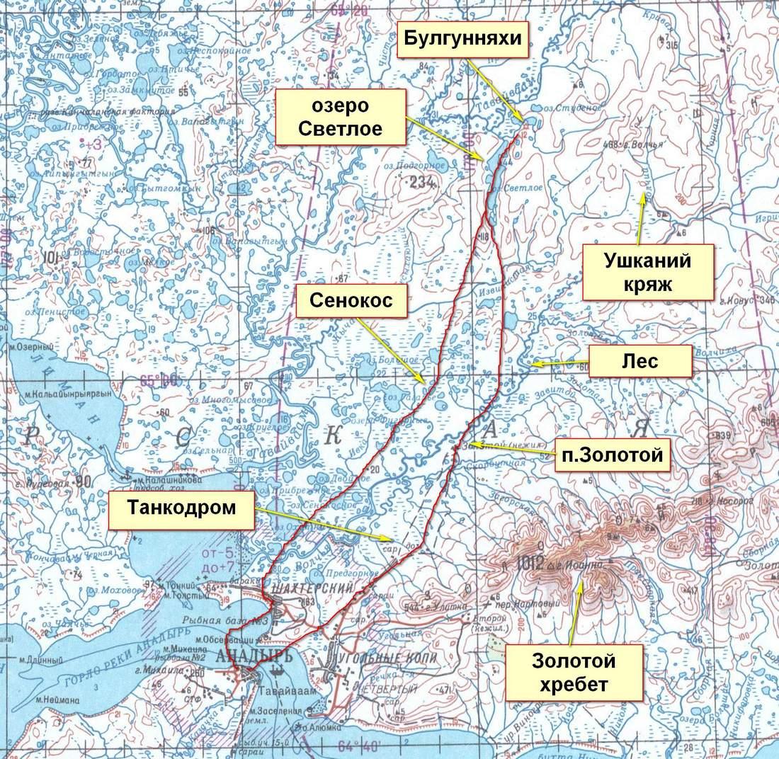 Маршрутная карта Рождественского похода