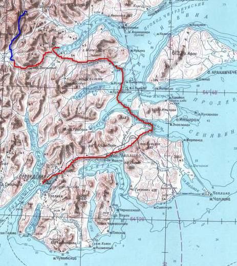 карта в ущелье