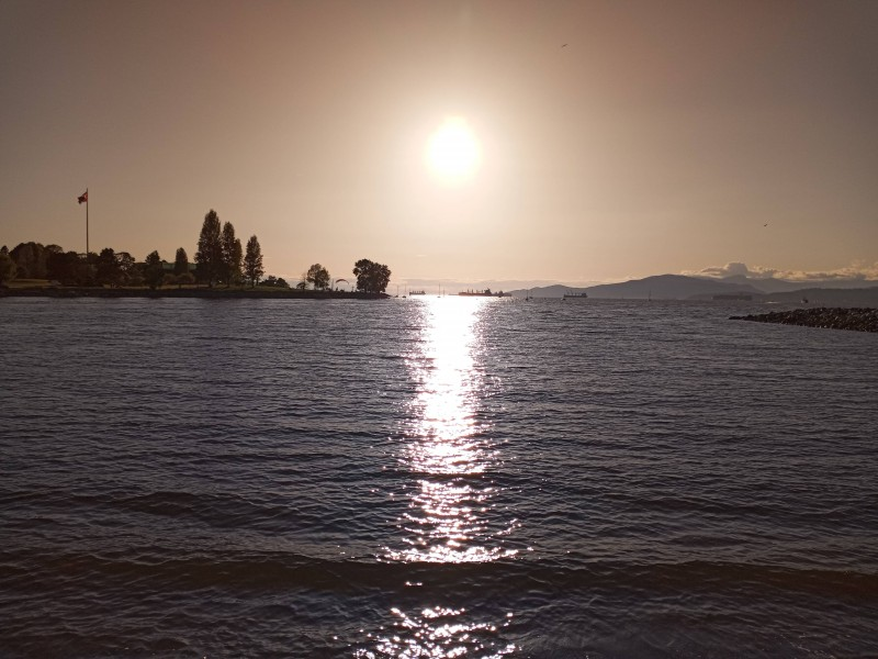 View from the Sunset beach, standing at the edge of water