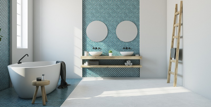 The bathroom mirror comes in many different variations.(#01)